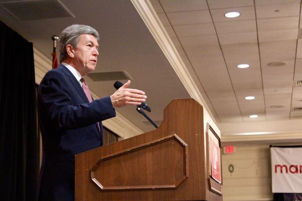U.S. Sen. Roy Blunt speaks at Lincoln Days earlier this year.