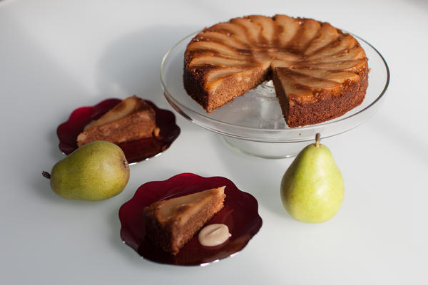 Pastry chef Aggie Chin's Pear Upside Down Cake.
