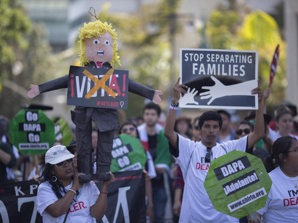 Immigrants, union members, workers and supporters marched in downtown Los Angeles last spring to call for greater rights for immigrants and improved conditions for workers.
