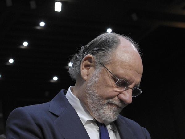 Former MF Global CEO Jon Corzine arrives on Capitol Hill in 2011.