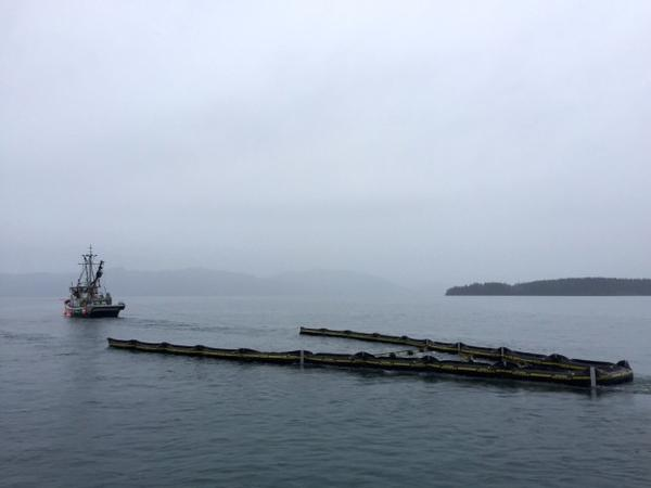 <p>An oil spill response drill in Puget Sound.</p>