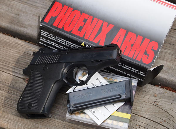 File photo of a Phoenix Arms HP22A semi-automatic pistol. A similar gun was allegedly used in the killing of 17-year-old John Skyler Johnson.