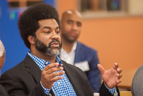 Sharif El-Mekki at a meeting of The Fellowship: Black Male Educators for Social Justice. (Courtesy)