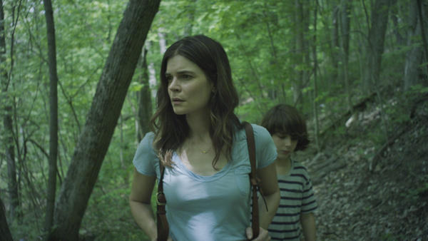 Claire (Betsy Brandt) and son Connor (Zev Haworth) search for closure in <em>Claire in Motion</em>.