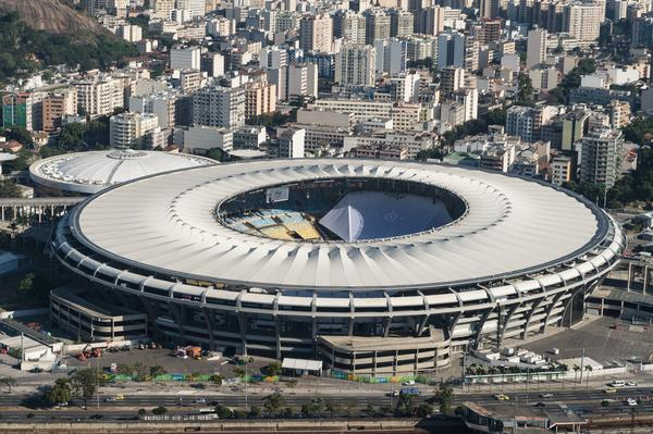 "Maracanã Stadium, pictured just months ago when it was in its Olympic-level shape for the Rio Games. Hundreds of millions of dollars have gone into renovating the decades-old stadium, a venue that has been described as Brazil's ""soccer cathedral."""