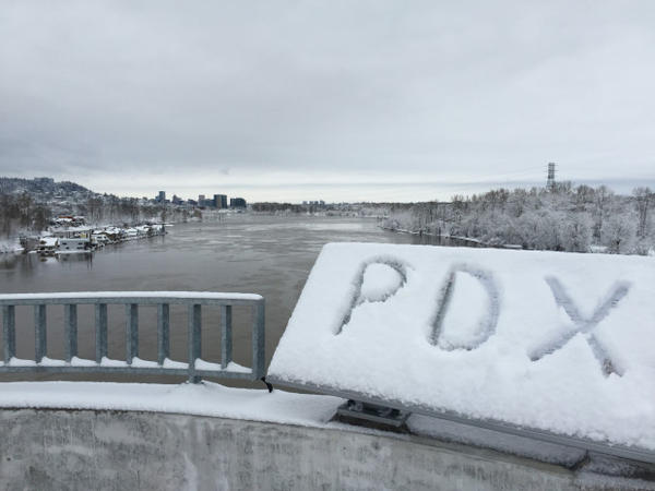<p>View from the Sellwood Bridge, Jan. 11, 2017.</p>