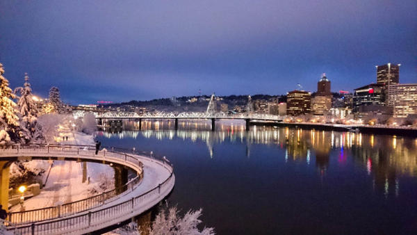 <p>A view from downtown Portland.</p>