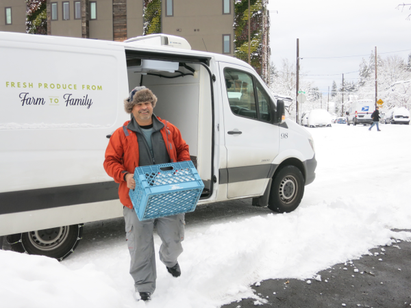 <p>Jeff Brugato, with Pacific Coast Fruit Company, was making deliveries in Portland. He said many restaurants are either closed or opening late, and the roads have become more slippery throughout the day.</p>