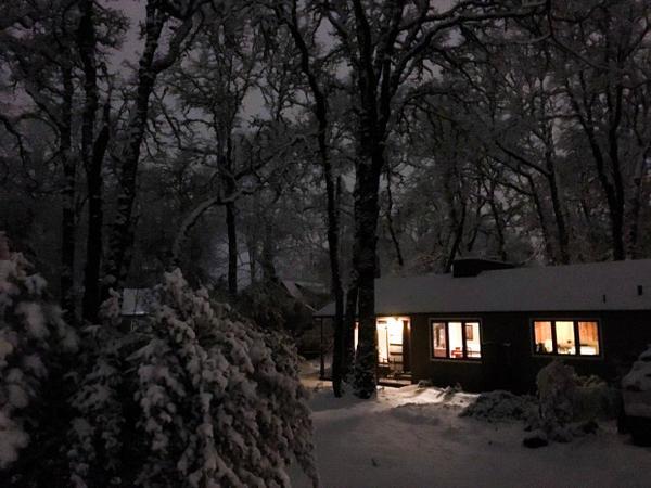 <p>Acalm in the storm in Oak Grove, Oregon.</p>