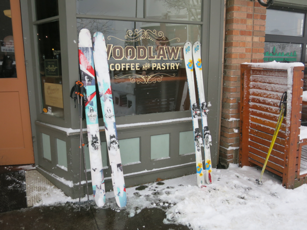 <p>The snow did not keep people from getting their coffee in Northeast Portland on Wednesday morning.</p>