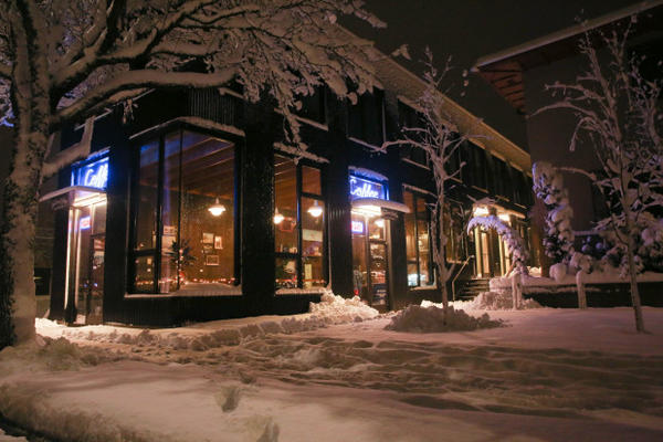 <p>Fairlane Coffee was one of few businesses open Wednesday morning in Portland's Sellwood neighborhood during a snow storm on Jan. 11, 2017.</p>