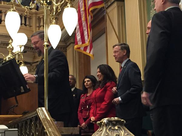 Governor John Hickenlooper is about to take the podium for his State of the State Address.
