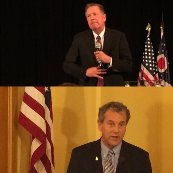Top - Ohio Governor John Kasich  Bottom - U.S. Senator Sherrod Brown