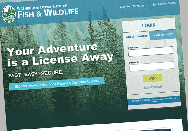 Washington Hunters And Anglers Find More Secure, But Glitchy New