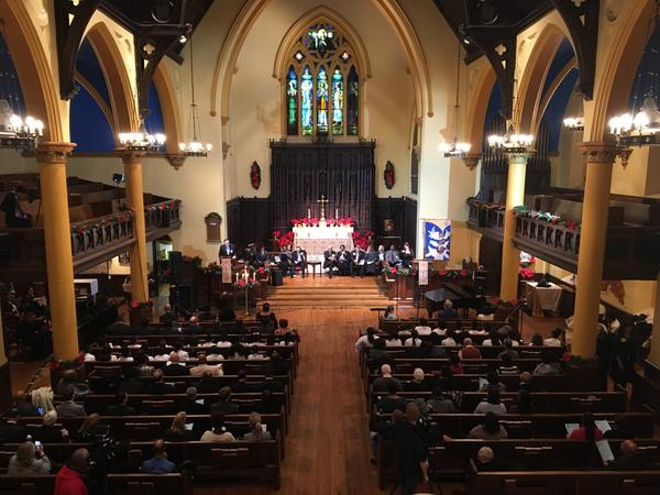 State employees and others gather at Trinity Episcopal Church to honor the work of Dr. Martin Luther King, Jr.
