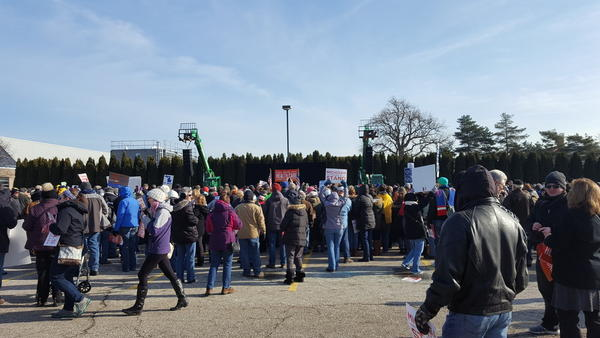 Michiganders rally at Macomb Community College in Warren to save the Affordable Care Act