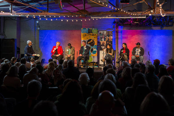 """WPR, WUWM and NPR's """"A Nation Engaged"""" event in Milwaukee on January 11, 2017. (WPR/Krueger)"""