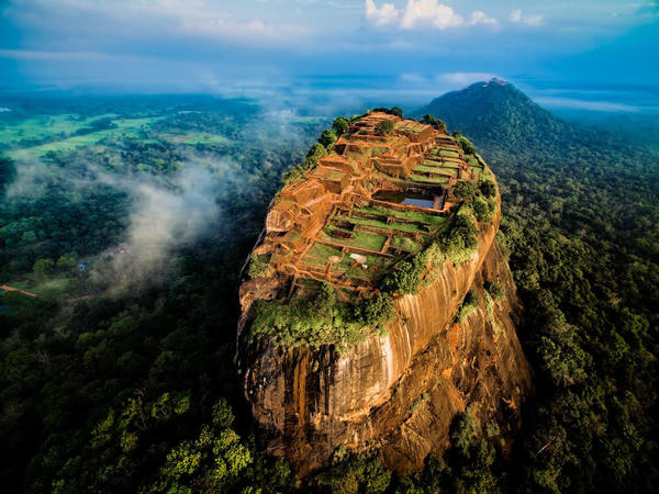 To capture this image of the ancient Sigiriya palace and fortress complex in Sri Lanka, drone photographer Jerome Courtail had to position himself deep in the jungle.