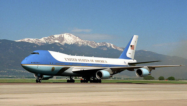 Air Force One is currently one of a pair of Boeing 747-200B planes.