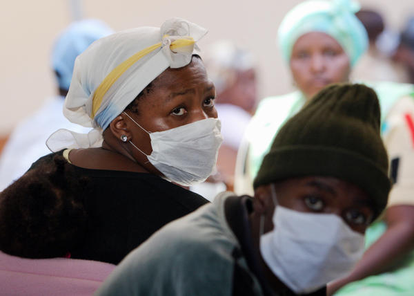 Patients in a tuberculosis center in South Africa.