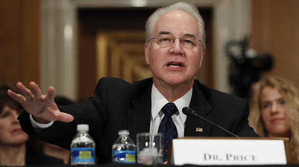 Health and Human Services Secretary nominee Rep. Tom Price at his confirmation hearing before the Senate Health, Education, Labor and Pensions Committee.