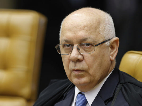 Brazil's Supreme Court Justice Teori Zavascki, pictured here in 2015, has died in a plane crash. He had been investigating corruption allegations against Brazilian politicians and business executives.