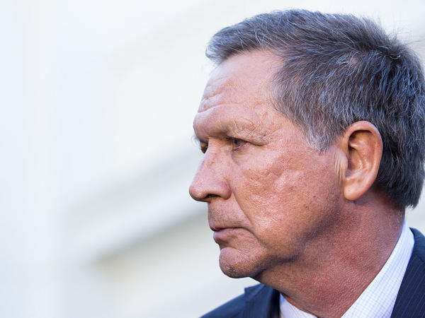 Ohio Gov. John Kasich, shown at a White House event in November, met with GOP members of the Senate Finance Committee last week for a closed-door discussion about the health care law.