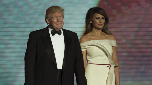 President Trump and first lady Melania Trump took the stage at the Liberty Ball a little after 9:30 p.m.