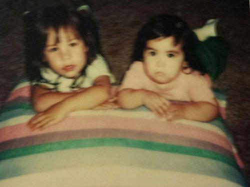 Natalie Swan with her older cousin Melissa.
