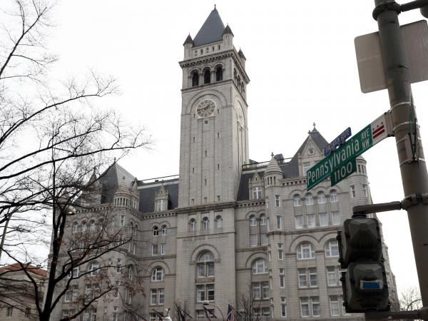 When interests such as the Trump International Hotel in Washington, D.C., take money from foreign governments, it's a potential violation of the Constitution, according to the group that filed the lawsuit.