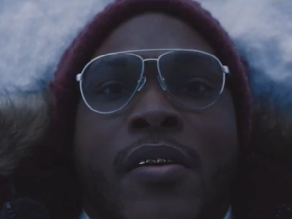 """Rapper Eric Biddines in a scene from his new video for the song, """"Peeuurrnn."""""""