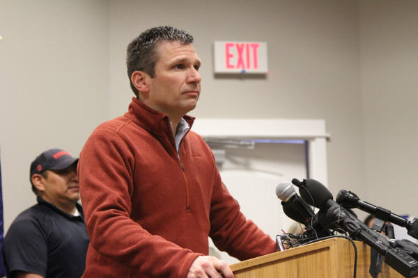 <p>FBI Special Agent in Charge Greg Bretzing speaks on the conclusion of the Malheur National Wildlife Refuge occupation Thursday, Feb. 11.</p>