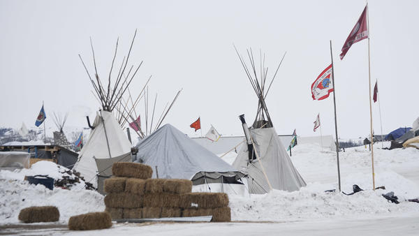 Demonstrators remain camped on the North Dakota prairie in opposition to the Dakota Access Pipeline. They've winterized tents and other structures.