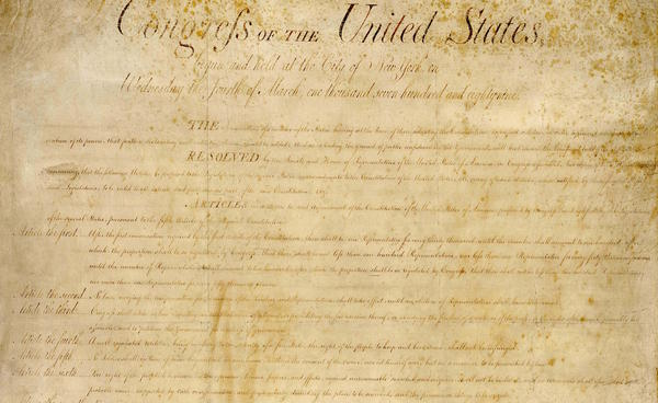 The U.S. Bill of Rights from the National Archives and Records.