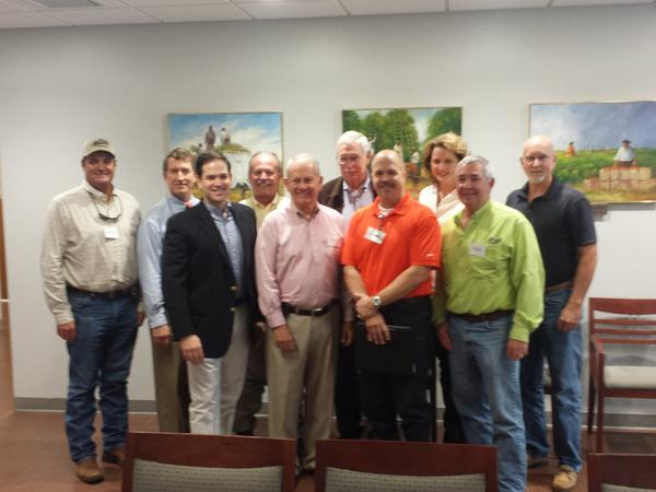 U.S. Senator Marco Rubio with members of the Gulf Citrus Growers Association