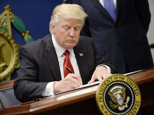 President Donald Trump signed an executive order on Friday that puts a freeze on immigration from seven countries: Syria, Iran, Libya, Somalia, Yemen, Iraq and Sudan.