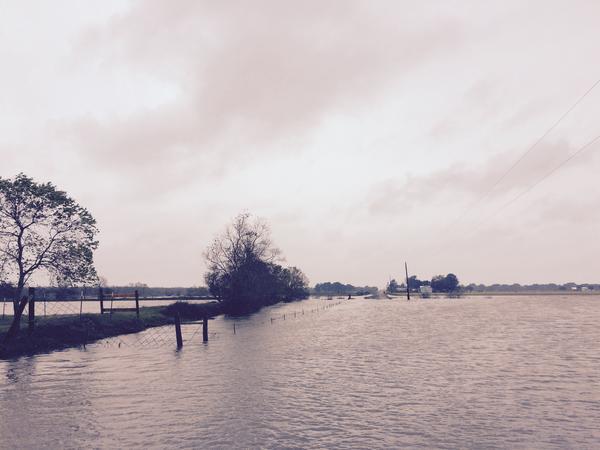 August flood waters inundated roadways in Vermilion Parish.