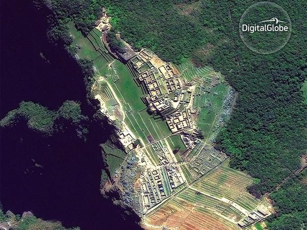 Satellite imagery of Machu Pichu in Peru, taken in June 2016.
