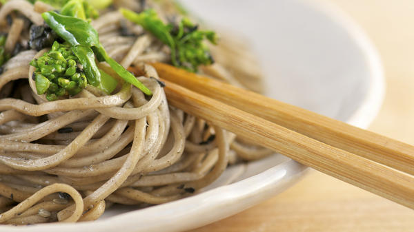 Genuine soba noodles are difficult to find in the U.S.