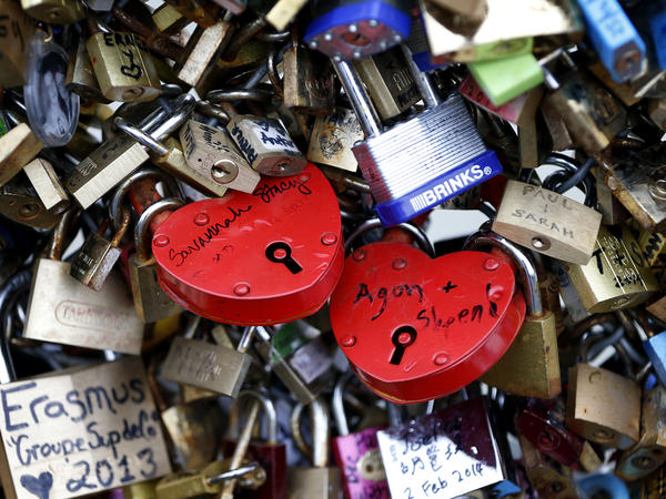 The love lock trend took off in the late 1990s. <em>Le Monde</em> newspaper estimated in February that there were as many as 700,000 locks on the Pont des Arts (shown here on Feb. 13) alone.