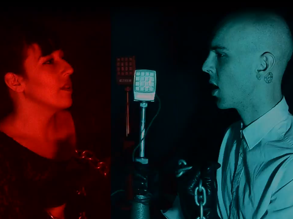 "The members of Cold Beat, in a new video for their song ""UV."""