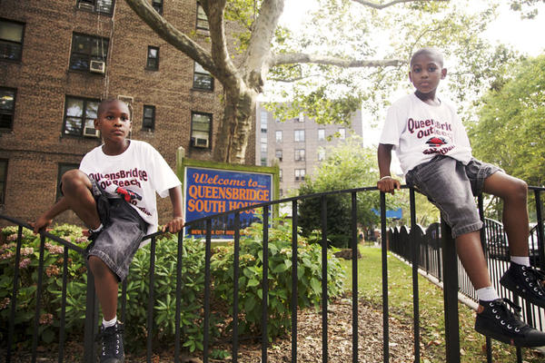 Twin brothers Jameel and Jaleel Faussett were 9 when this photo was taken in 2011. Residents of Queensbridge Houses in Long Island City, they were participating in a neighborhood summer camp funded by former Queensbridge Houses resident and NBA star Ron Artest. That same day, Artest threw his yearly cookout at Queensbridge Park, featuring free food and entertainment for the entire community.
