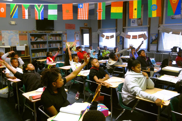 The sixth-grade students at Shabazz Public School Academy in Lansing, Mich., spent the semester studying the events surrounding the deaths of Trayvon Martin, Michael Brown and Eric Garner.