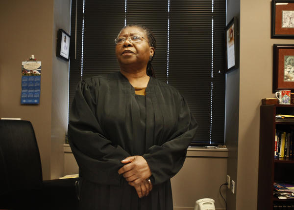 Justice of the Peace Yvonne Michelle Williams is one of the presiding judges at the Travis County Court in Austin.