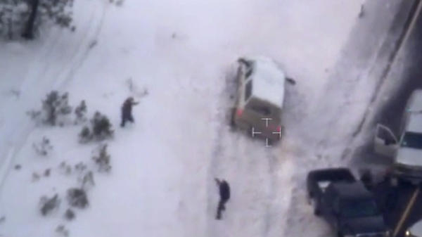 "This photo taken from an FBI video shows Robert ""LaVoy"" Finicum before he was fatally shot by police."