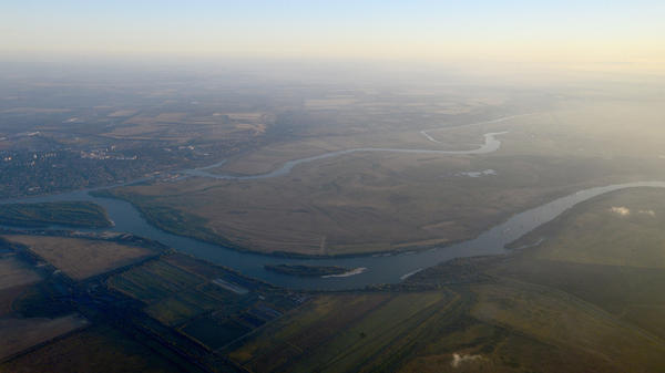 An aerial view of Rostov-on-Don region, where the fertile steppes support some of Russia's best farmland.