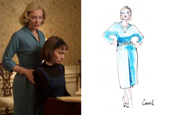 Sandy Powell's sketches for the film <em>Carol.</em>