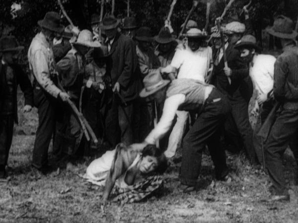 Oscar Micheaux staged a realistic lynching scene in his 1919 film <em>Within Our Gates</em>, which some film scholars believe was made in response to D.W. Griffith's <em>The Birth of a Nation</em>.