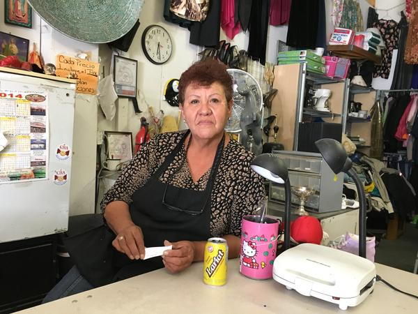 Berta Aceves at her store in El Paso, Texas.