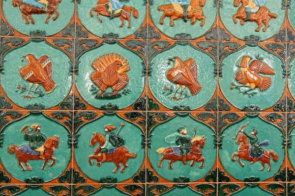 Detail of artwork in Aragvi.